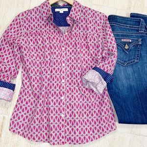 Anthro Isabella Sinclair Pink Button Down Top MP